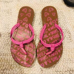 Coach Flip-Flops Pink Size 7 Women's